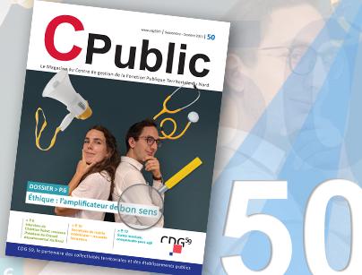 montage image présentant la couverture du magazine Numéro 50 du C Public
