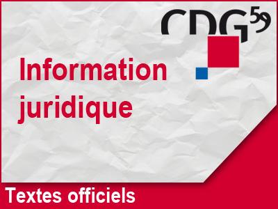 Information juridique sur les textes officiels