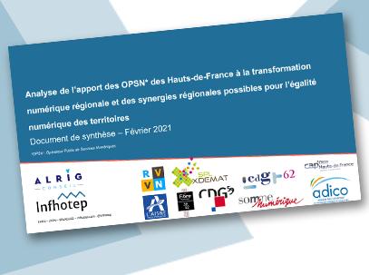 Photo de la premiere page de l'étude menée sur l'apport des OPSN des Hauts-de-France