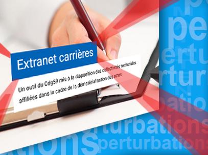"""montage image sur le texte """" Extranet Carrieres"""""""