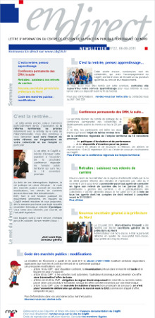 Visualisez la derni�re newsletter !